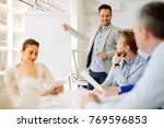 business plan explained on... | Shutterstock . vector #769596853
