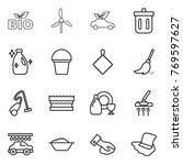 thin line icon set   bio ... | Shutterstock .eps vector #769597627