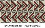 tribal vector ornament.... | Shutterstock .eps vector #769598983