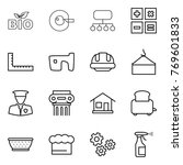 thin line icon set   bio  cell... | Shutterstock .eps vector #769601833