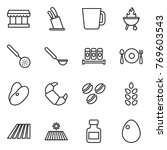 thin line icon set   market ... | Shutterstock .eps vector #769603543