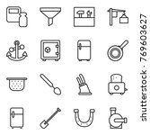 thin line icon set   scales... | Shutterstock .eps vector #769603627