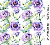 wildflower eustoma flower... | Shutterstock . vector #769604617