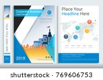 cover book design template with ... | Shutterstock .eps vector #769606753