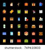 packaging icons set   Shutterstock .eps vector #769610833