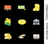 investment icons set   Shutterstock .eps vector #769610863