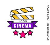 colorful cinema or movie logo... | Shutterstock .eps vector #769612927