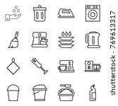 thin line icon set   chemical... | Shutterstock .eps vector #769613317