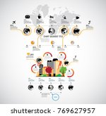 business infographics layout | Shutterstock .eps vector #769627957