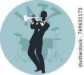 musical style. jazz. silhouette ...   Shutterstock .eps vector #769631173
