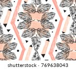 hand drawn vector abstract... | Shutterstock .eps vector #769638043