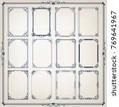set of vintage frames with... | Shutterstock .eps vector #769641967