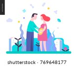 reproduction   a couple... | Shutterstock .eps vector #769648177