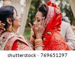stunning indian bride dressed... | Shutterstock . vector #769651297