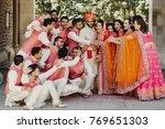 beautiful indian newlyweds... | Shutterstock . vector #769651303