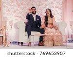 indian groom in classy western... | Shutterstock . vector #769653907