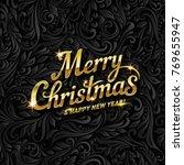 merry christmas lettering for...   Shutterstock .eps vector #769655947