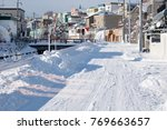 residential area with snow  ... | Shutterstock . vector #769663657