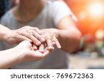 hospice care community concept. ... | Shutterstock . vector #769672363