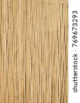 straw bamboo wall background | Shutterstock . vector #769673293