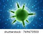 3d rendering viruses in... | Shutterstock . vector #769673503