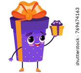 holiday gift box character in... | Shutterstock .eps vector #769674163