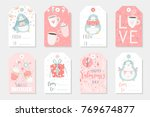 set of 8 cute ready to use gift ... | Shutterstock .eps vector #769674877