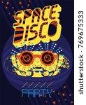 typographic vintage space disco ...   Shutterstock .eps vector #769675333