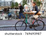 amsterdam  netherlands  ... | Shutterstock . vector #769693987