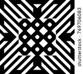 illusive tile with black white...   Shutterstock .eps vector #769706083