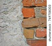 Red Bricks Stone Wall...