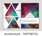 abstract vector layout... | Shutterstock .eps vector #769708723