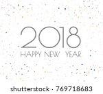 greeting card design template... | Shutterstock .eps vector #769718683
