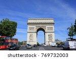 paris  france   june 5  2017 ... | Shutterstock . vector #769732003