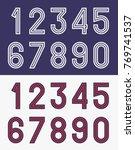 vintage football jersey numbers | Shutterstock .eps vector #769741537