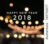 happy new year text on light...   Shutterstock . vector #769742077