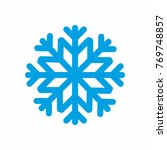 snow icon blue on white... | Shutterstock .eps vector #769748857