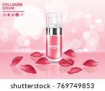 rose collagen vitamin skin care ... | Shutterstock .eps vector #769749853