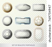 set of isolated porthole for... | Shutterstock .eps vector #769754947