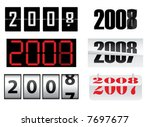 new year  2008 | Shutterstock .eps vector #7697677