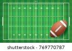 american football ball on... | Shutterstock .eps vector #769770787