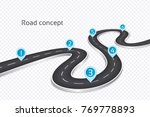 winding 3d road infographic... | Shutterstock .eps vector #769778893