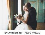 perfect couple bride  groom... | Shutterstock . vector #769779637