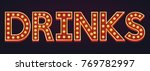 drinks banner alphabet sign... | Shutterstock .eps vector #769782997