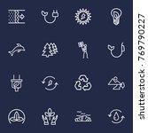 set of 16 atmosphere outline... | Shutterstock .eps vector #769790227
