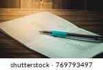 accountant verify the saving...   Shutterstock . vector #769793497