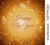 happy new year. card for your... | Shutterstock .eps vector #769799263