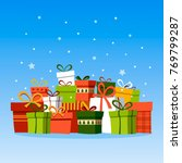 holiday christmas background...   Shutterstock .eps vector #769799287