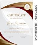 certificate of simple... | Shutterstock .eps vector #769803307