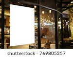 blank promotion poster display... | Shutterstock . vector #769805257